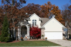 Hickory Grove Estates, Ann Arbor Subdivision Home in Fall