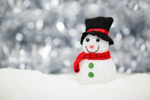 Holiday Snowman in Winter