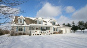 Photo of Cape Cod home in the winter
