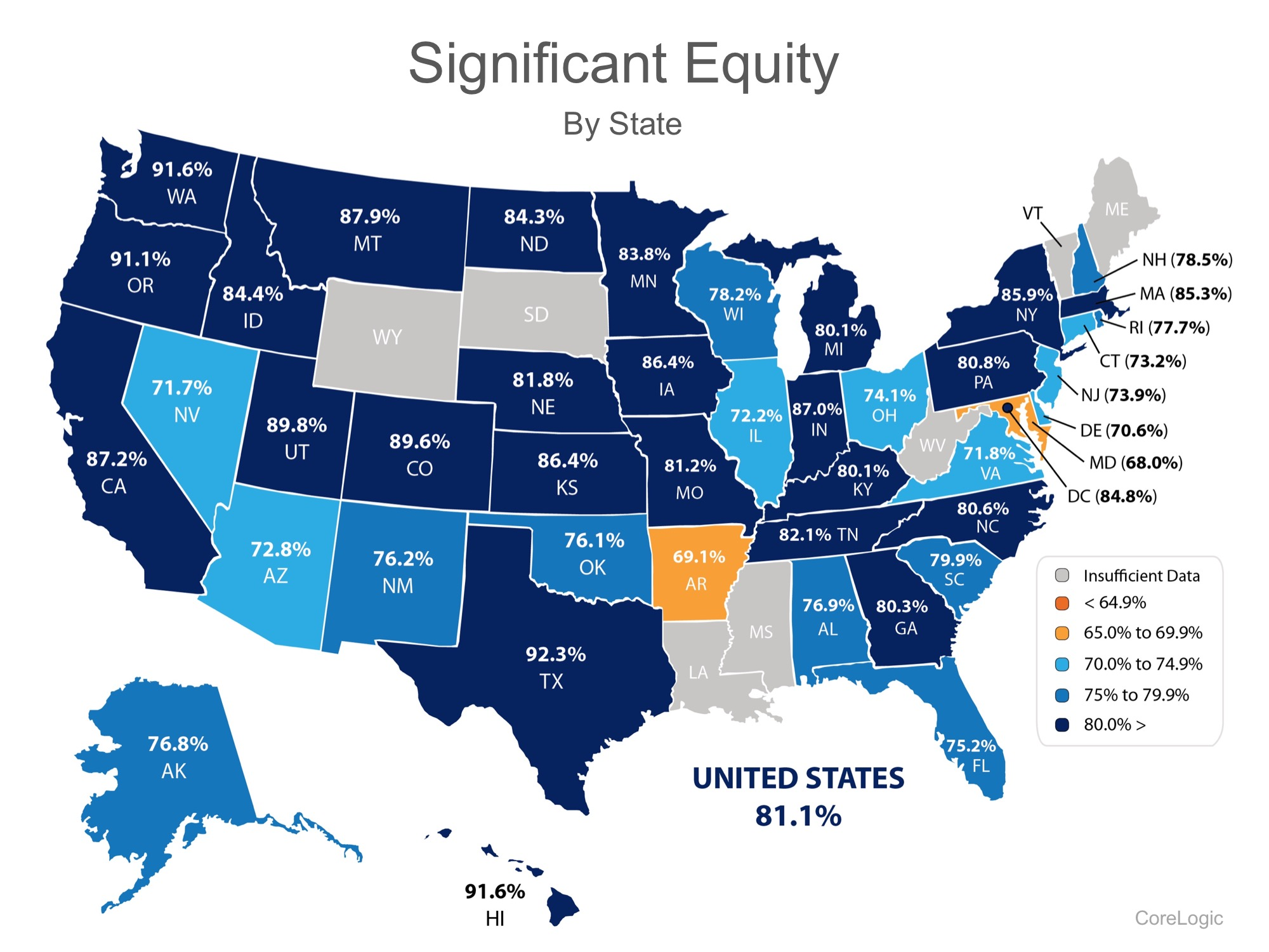 Infographic Homeowner Equity Significance by State